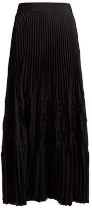 Givenchy Pleated Satin Midi Skirt - Womens - Black