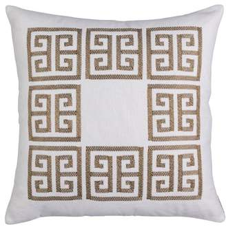 LILI ALESSANDRA Guy Basket Weave Embroidery Accent Pillow