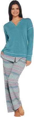 Cuddl Duds Petite Comfortwear Novelty Pajama Set