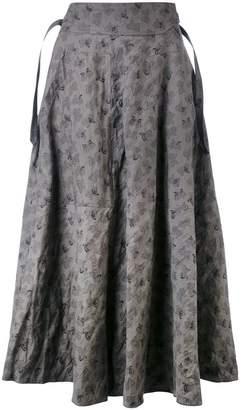 Bottega Veneta butterfly print A-line skirt