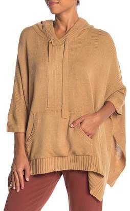 Olivia Pratt Hooded Knit Poncho