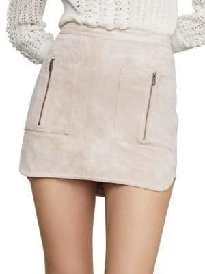 766b49c7c3 BCBGMAXAZRIA Patch Pocket Faux-Suede Skirt