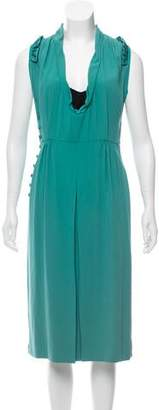 Marc Jacobs Cowl Neck Midi Dress