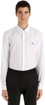 Neil Barrett Gun Detail Cotton Poplin Shirt