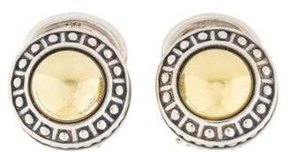 Lagos Two-Tone Caviar Earclips