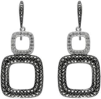 Suspicion Sterling Marcasite & Crystal Dangle Earrings