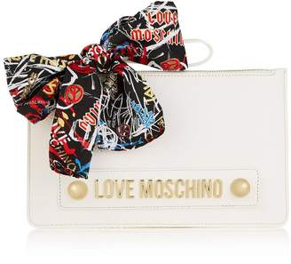Love Moschino Scarf Detail Clutch Bag