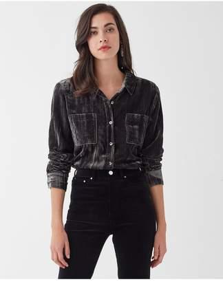 Splendid Moonstone Velvet Shirt
