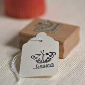 S.t.a.m.p.s. Pretty Rubber Personalised Butterfly Stamp