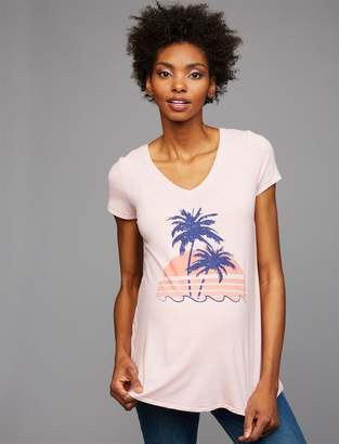 A Pea in the Pod Palm Tree Maternity Tee