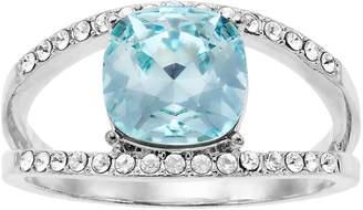 Brilliance+ Brilliance Azure Silver Tone Ring with Swarovski Crystal