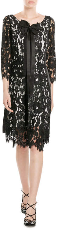 Marc Jacobs Marc Jacobs Lace Dress with Bow and Ribbon