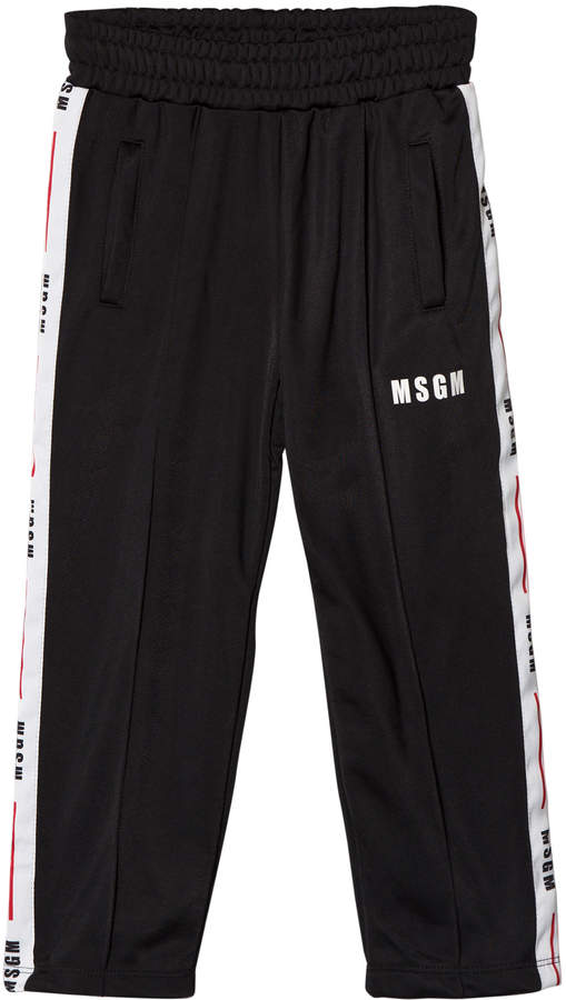 Msgm Black Logo Track Pants