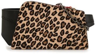 THE VOLON Dia cross body leopard bag