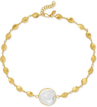Pippa Small 18-karat Gold Crystal Choker - one size