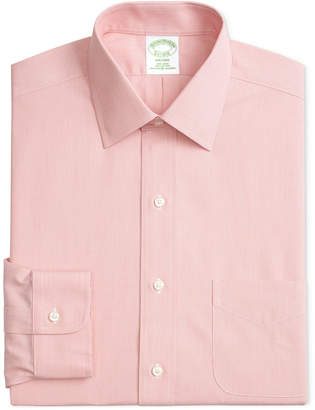 Brooks Brothers Men Milano Extra Slim-Fit Non-Iron Ainsley Broadcloth Stretch Dress Shirt