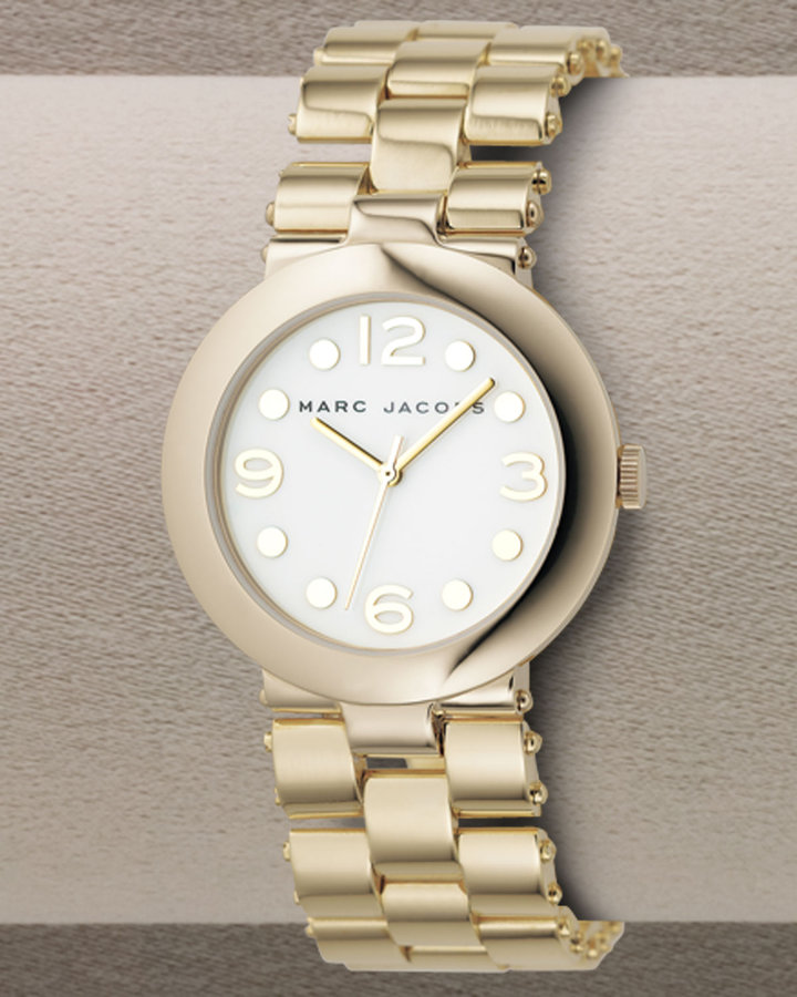 MARC by Marc Jacobs Gold Round Sukie Watch