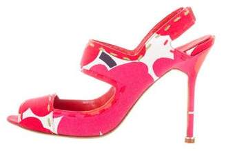 Manolo Blahnik Floral High-Heel Sandals