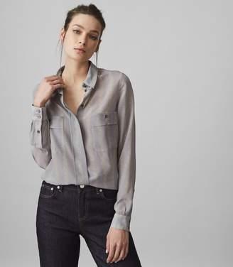 Reiss Devon Broken-Stripe Printed Shirt