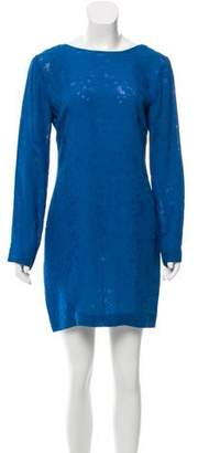 Cushnie et Ochs Distressed Plunging Back Dress w/ Tags