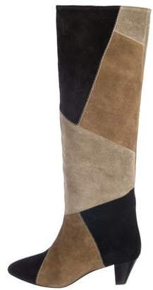 Etoile Isabel Marant Suede Patchwork Knee-High Boots