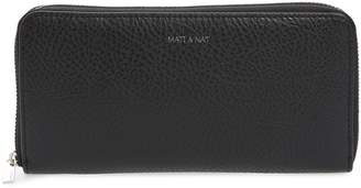 Matt & Nat Zip Around Faux Leather Wallet