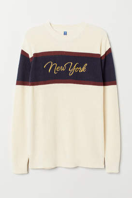 H&M Color-block Sweater - Beige