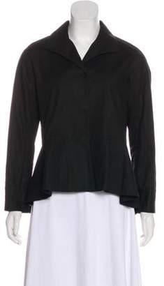 Lafayette 148 Collared Button-Up Blazer Black 148 Collared Button-Up Blazer