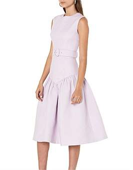 By Johnny Lilac Belted V-Drop Dress