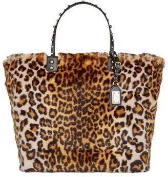 Dolce & Gabbana Beatrice Leopard Faux Fur Shopping Bag