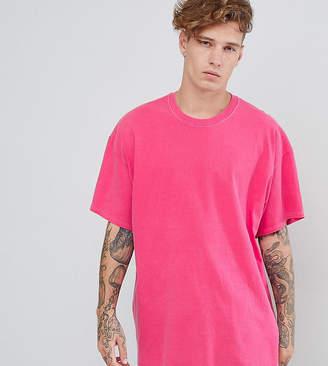 Reclaimed Vintage inspired oversized overdye t-shirt in pink