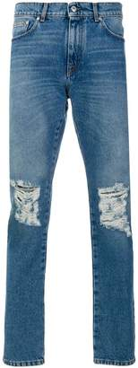 MSGM destroyed denim pants