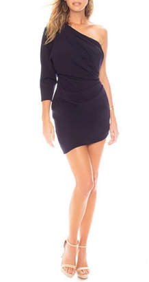 Katie May Baby Blouse Asymmetric Mini Dress with Back Cutout