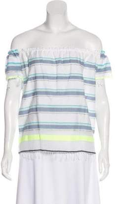 Lemlem Striped Off-The Shoulder Top