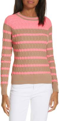 Milly Texture Stitch Stripe Sweater