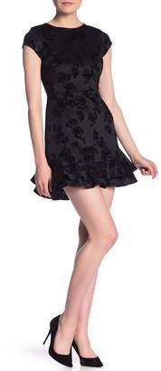 Love...Ady Flocked Animal Flounce Dress