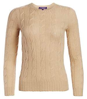 Ralph Lauren Women's Cashmere Cable Knit Sweater