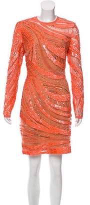Elie Saab Structured Embellished Dress w/ Tags
