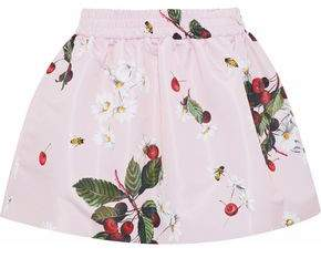 RED Valentino Flared Printed Satin-Faille Mini Skirt