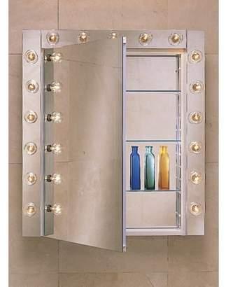 "Robern PLM2030W 19 1/4"" Reversible Hinged Single Door Mirrored Medicine Cabinet"