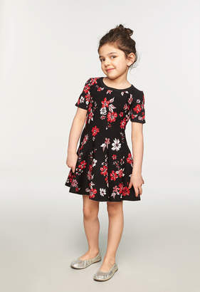 Milly MINIS TWILIGHT FLORAL FLARE DRESS