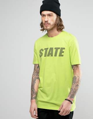 Asos Longline T-Shirt With State Print