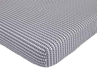 Petunia Pickle Bottom Southwest Skies Printed Fitted Crib Sheet, Gray/White