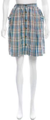 Marc Jacobs Plaid Knee-Length Skirt