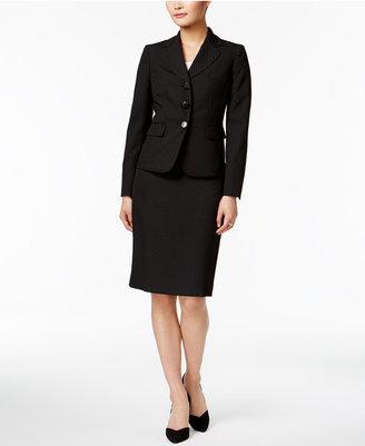 Le Suit Jacquard Three-Button Skirt Suit $200 thestylecure.com