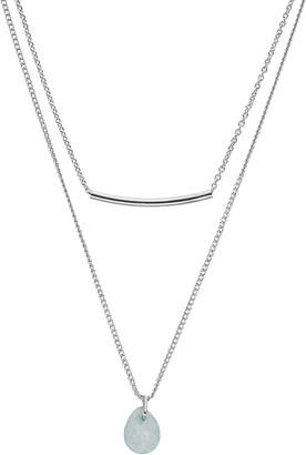 Lauren Conrad Multistrand Bead & Curved Bar Necklace
