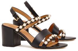Tory Burch Emmy Mid-Heels Pearl Sandals