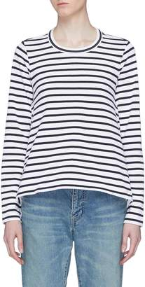 Sacai Cutout back stripe long sleeve T-shirt