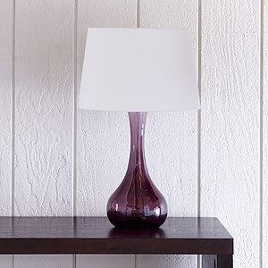 Vidrio Glass Table Lamp, Purple