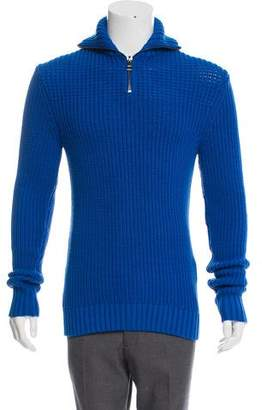 Michael Kors Rib Knit Mock Neck Sweater